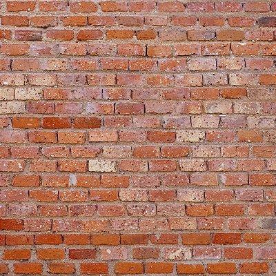 Papel de parede tijolinho vermelho FP003