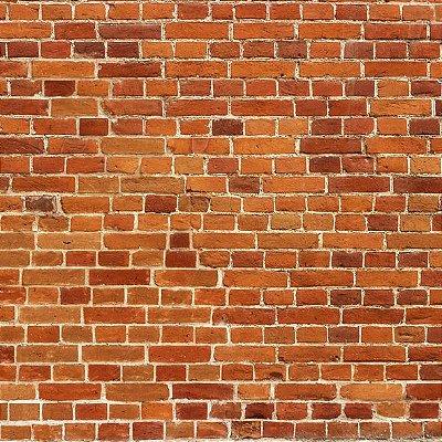 Papel de parede tijolinho vermelho FP004
