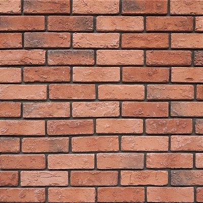 Papel de parede tijolinho vermelho FP006