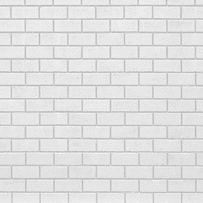 Papel de parede tijolinho branco FP007