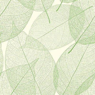 Papel de parede folhas verdes FP023