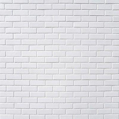 Papel de parede tijolinho branco FP030