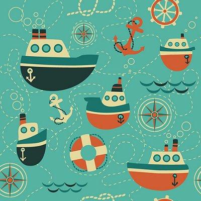 Papel de parede barcos fp499