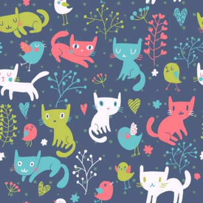 Papel de parede gatos fp540