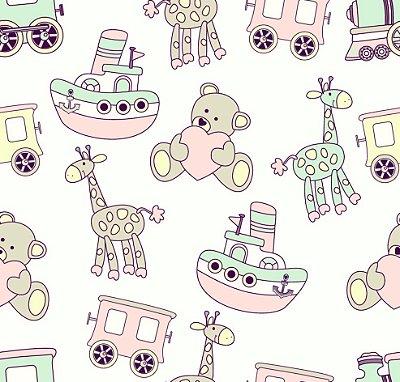 Papel de parede ícones infantis fp608