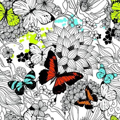 Papel de parede borboletas fp614