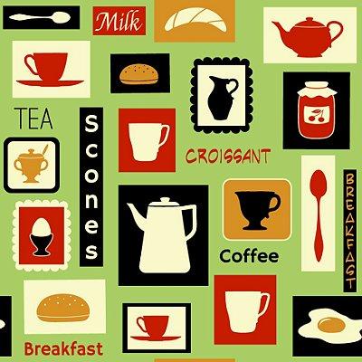 Papel de parede breakfast fp624
