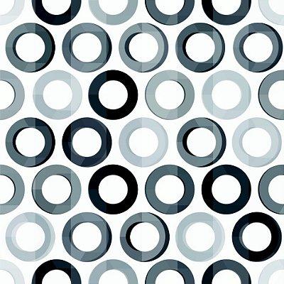 Papel de parede círculos PB fp635