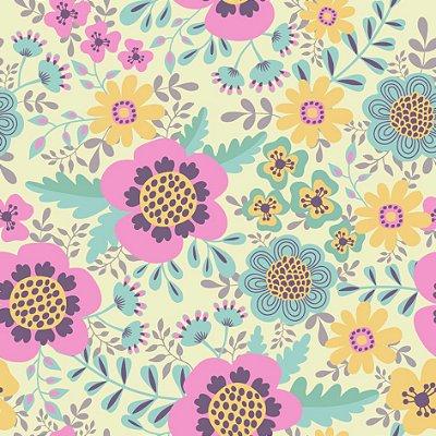 Papel de parede floral fp696