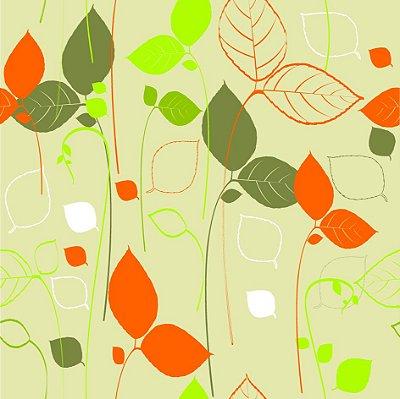 Papel de parede folhas fp618