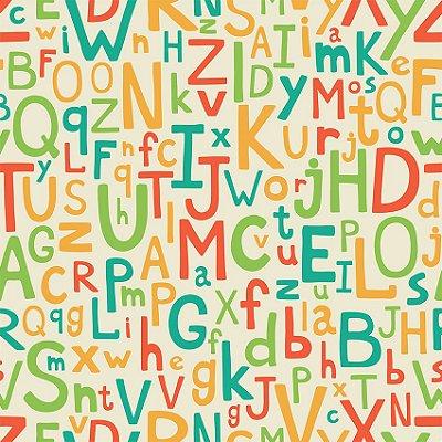 Papel de parede alfabeto padrão fp115