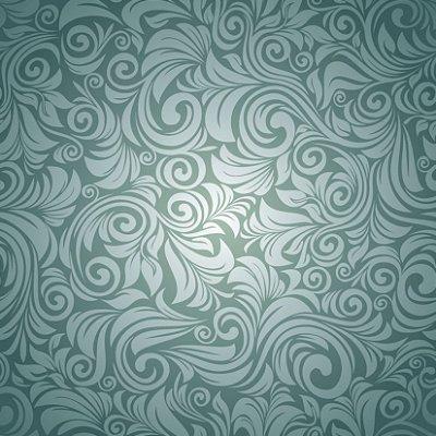 Papel de parede arabesco verde fp401