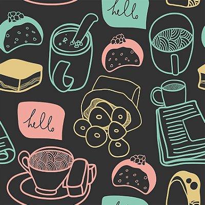 Papel de parede chá e doces fp091
