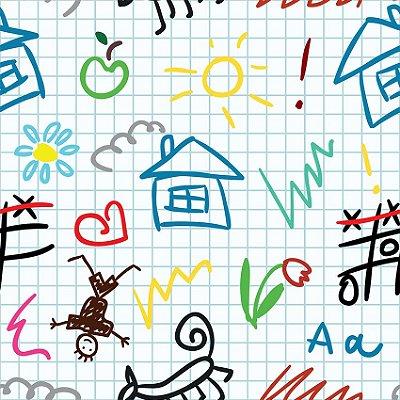 Papel de parede escola do bebê fp0132