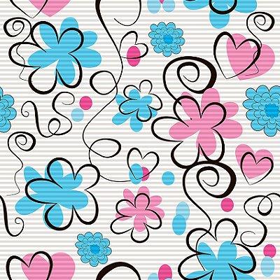 Papel de parede flores fp155