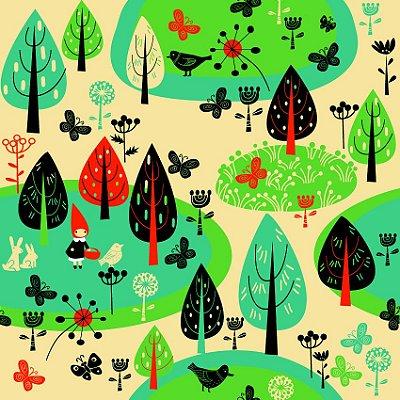 Papel de parede floresta encantada fp133