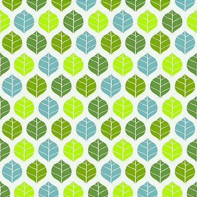 Papel de parede folha verde e azul fp136