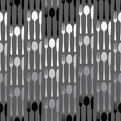Papel de parede talhares preto e branco fp100