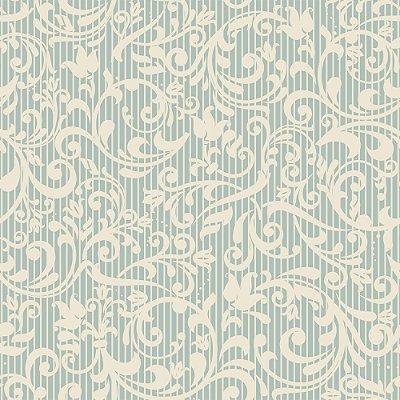 Papel de parede arabesco flores fp1051