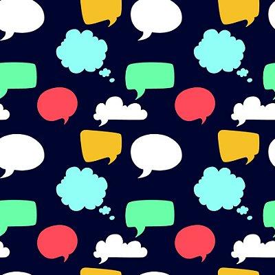 Papel de parede balões de fala fp1150