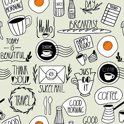 Papel de parede breakfast fp1151