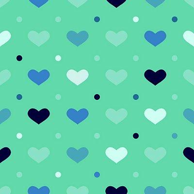 Papel de parede corações azuis fp1130