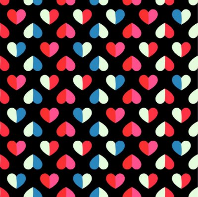 Papel de parede corações coloridos fp1132