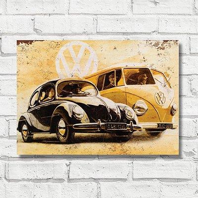 Placa decorativa carro antigo FD040