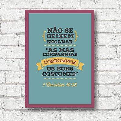 Placa decorativa frases FD064