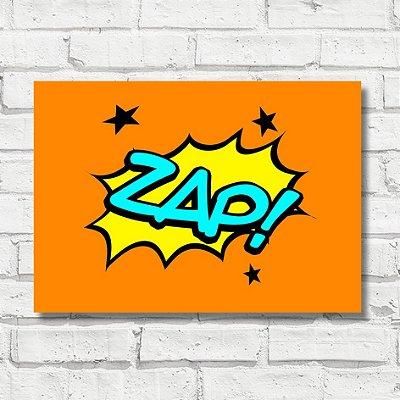 Placa decorativa pop arte FD030