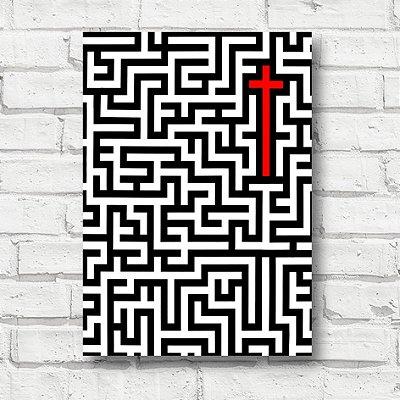 Placa decorativa cruz FD117