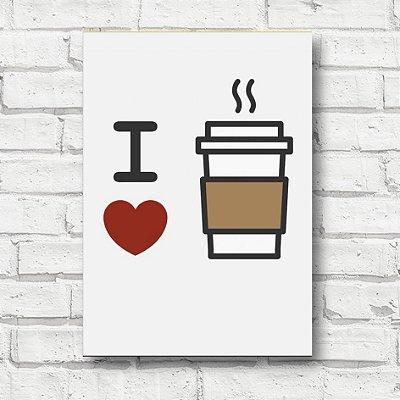 Placa decorativa eu amo café FD120