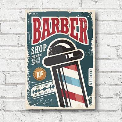 Placa decorativa Barbearia FD191