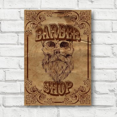 Placa decorativa Barber FD152