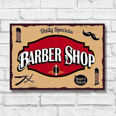 Placa decorativa Barber FD155