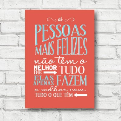 Placa decorativa frases FD165