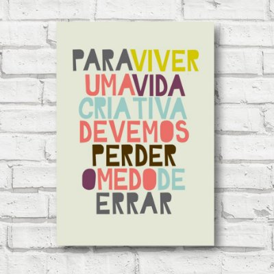Placa decorativa frases FD177