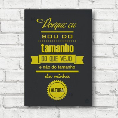 Placa decorativa Frases FD141