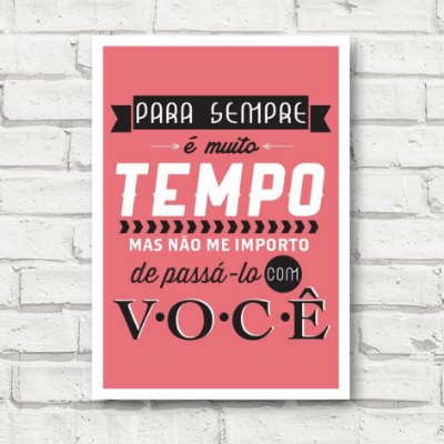 Placa decorativa Frases FD144