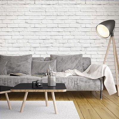 Papel de parede Tijolinho Branco - PA002