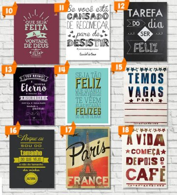 Placas decorativas - PL002