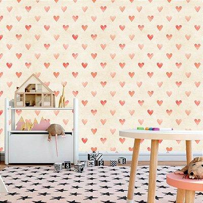 Papel de parede corações - PB003