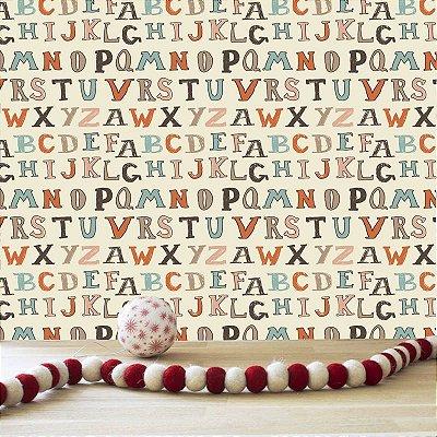 Papel de parede letras-PB057