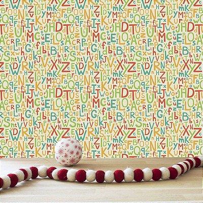 Papel de parede letras-Pb068