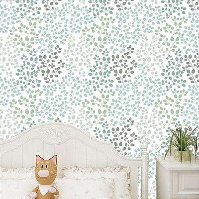 Papel de parede verde-Pb048