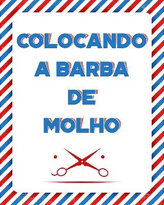 """Placa Decorativa """"Barba de Molho"""""""