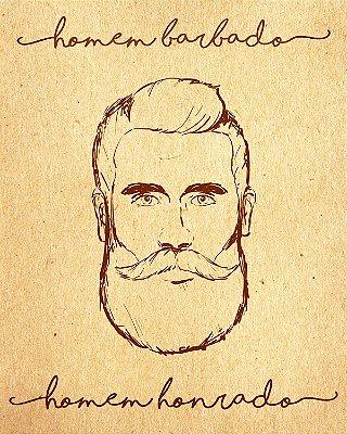 """Placa Decorativa """"Homem Barbado"""""""