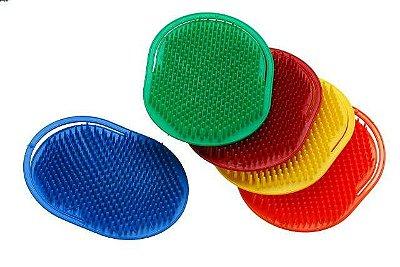 Escova Plástica Oval para Massagem