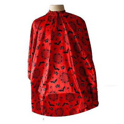 Capa de Corte Halloween Vermelha com Elastico