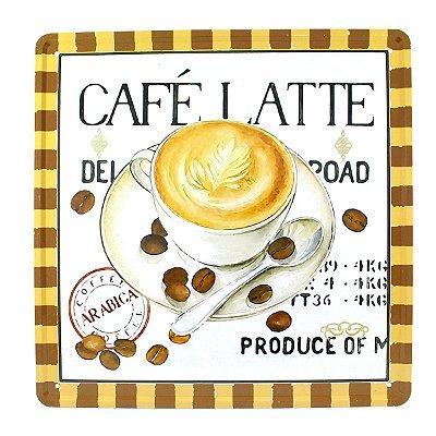 """Placa Decorativa """"Café Latte"""""""